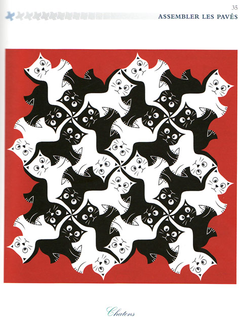 Finished version of Kitten Tessellation by Alain Nicolas