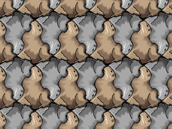 tessellation art lesson about sea lions and seals