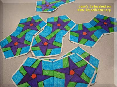 how to make a tessellation on the surface of a dodecahedron
