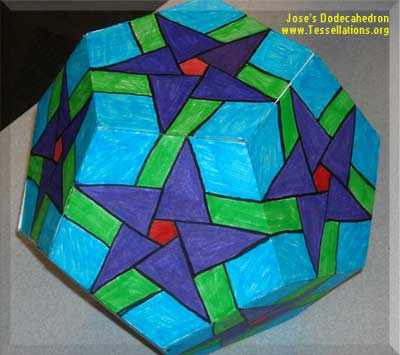a first-time tessellation on the surface of a dodecahedron