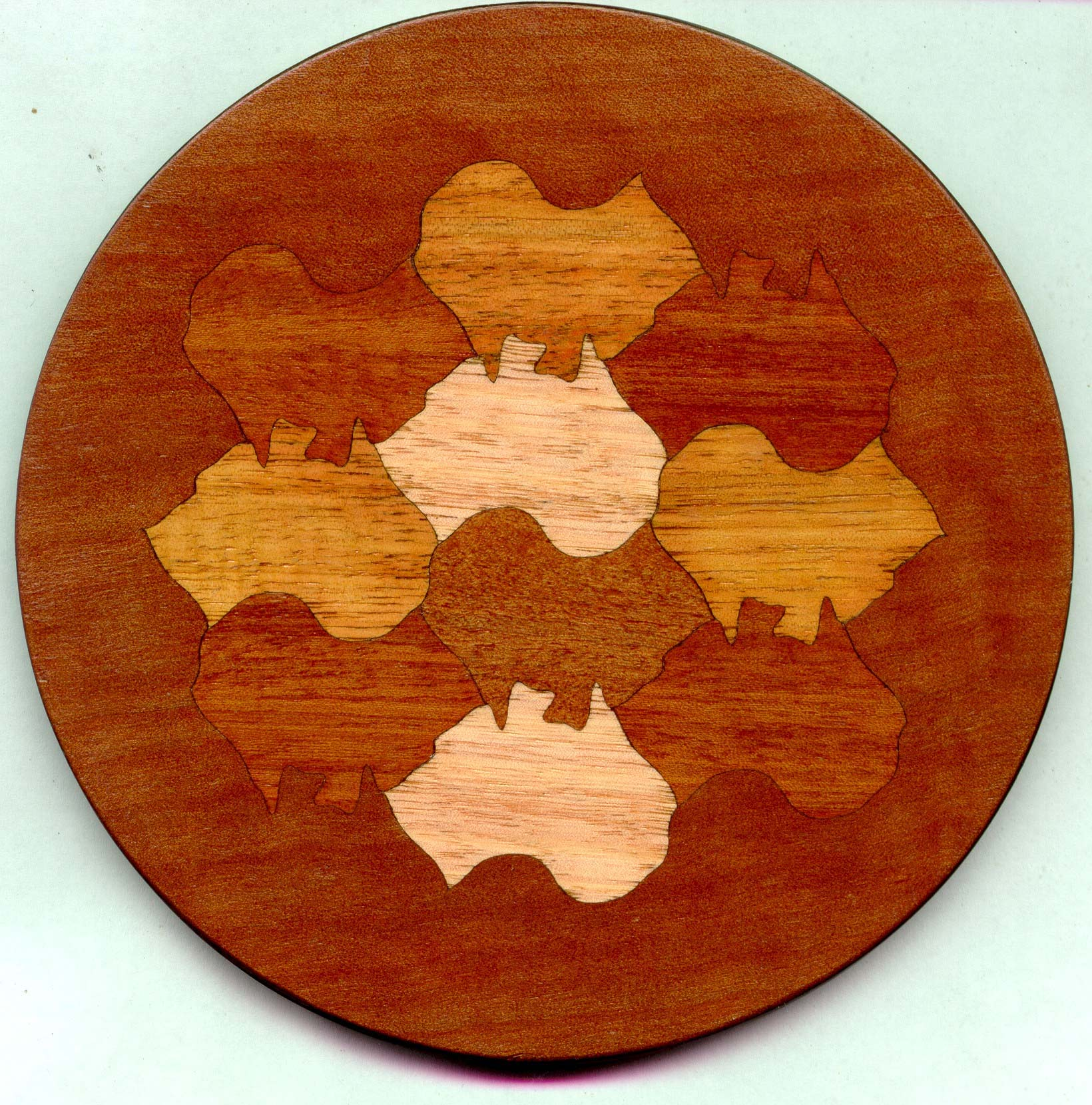 jewelry box lid: a tessellation of australia (the continent)