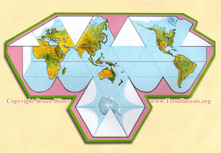 Bruce Bilney's Icosahedron World Map