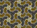 Gold and silver geese tessellation art