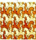 horsemen tessellation by mc escher