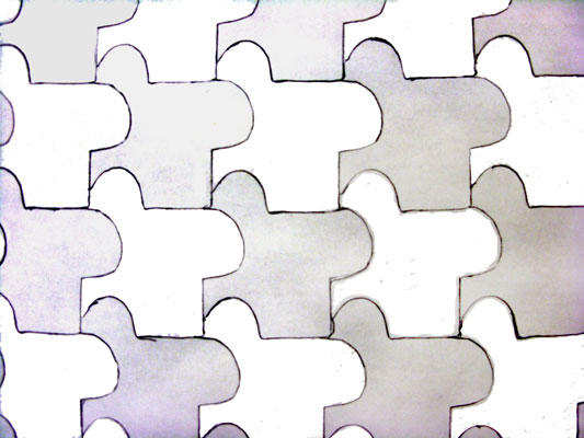 Abstract geometric tessellation by a child