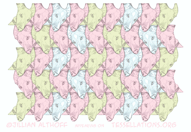 Tessellation of Dog's Head, by Jillian Althoff