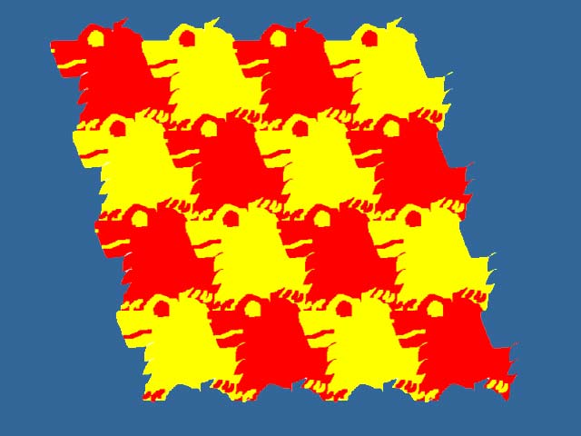 Scottish Terriers Tessellation by Coleman