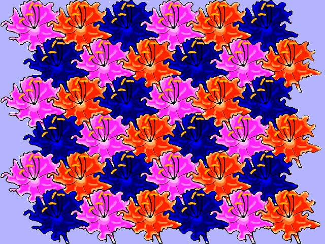 Tessellation of Flowers by Kay Rollans
