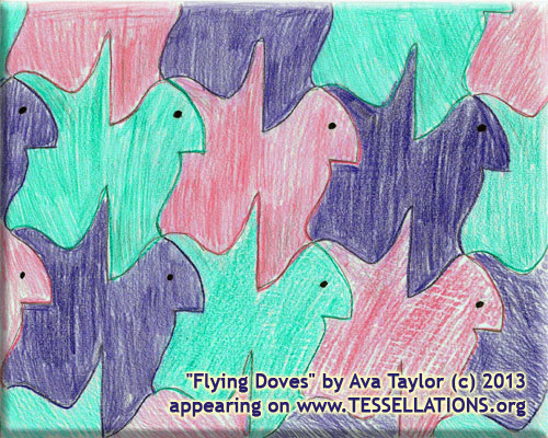 escher style fish tessellation art by Gail Hendrix