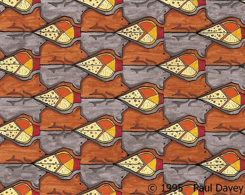 Mouse and Cheese Tessellation by Paul Davey