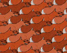 tessellation of foxes