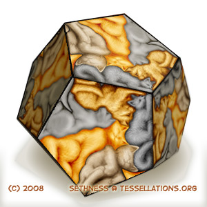 12 sided 3D dodecahedron tessellation made from paper