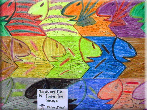 fish tessellation by a child