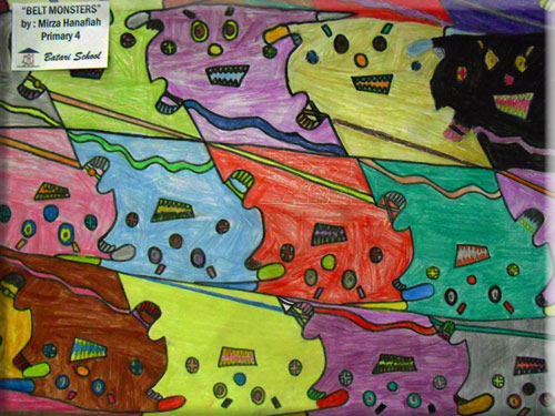 monster tessellation by a child