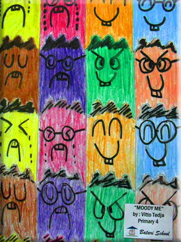 face/head tessellation art by a kid