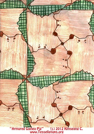animal motif, first-time tessellation art by an elementary school student