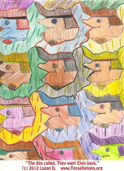 first-time tessellation art by an elementary school student