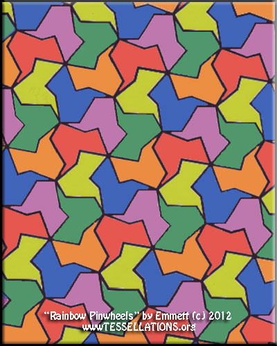 abstract geometric alhambra-style first-time tessellation by a child