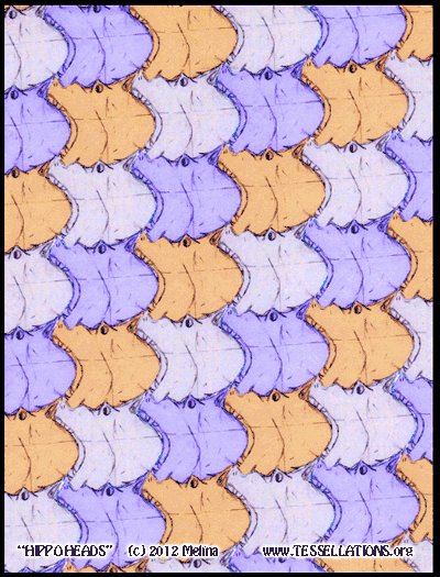 hippopotamus heads, a first-time tessellation by a child