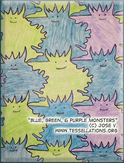 Monster tessalation by a child, Jose V.