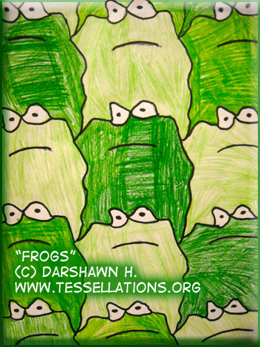 frog tessalation by a child, Darshawn H.