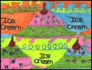 a first-time tessellation with an ice cream theme