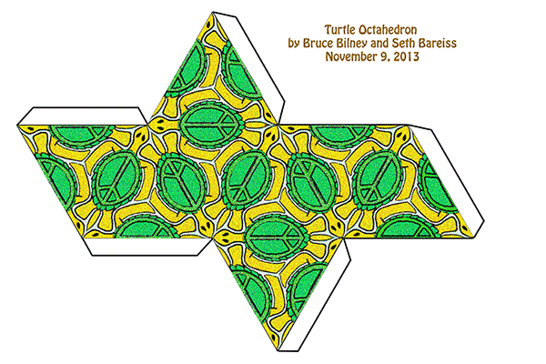 diy turtle tessellation papercraft octahedron