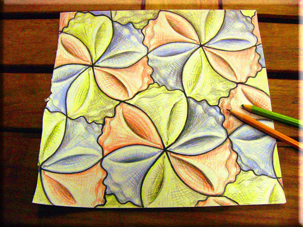 seashell tessellation art by sethness