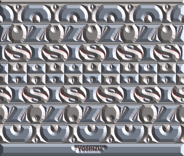 Tessellation of the name YOSHIZU