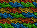 Escher style art: Alligators Face-to-Face